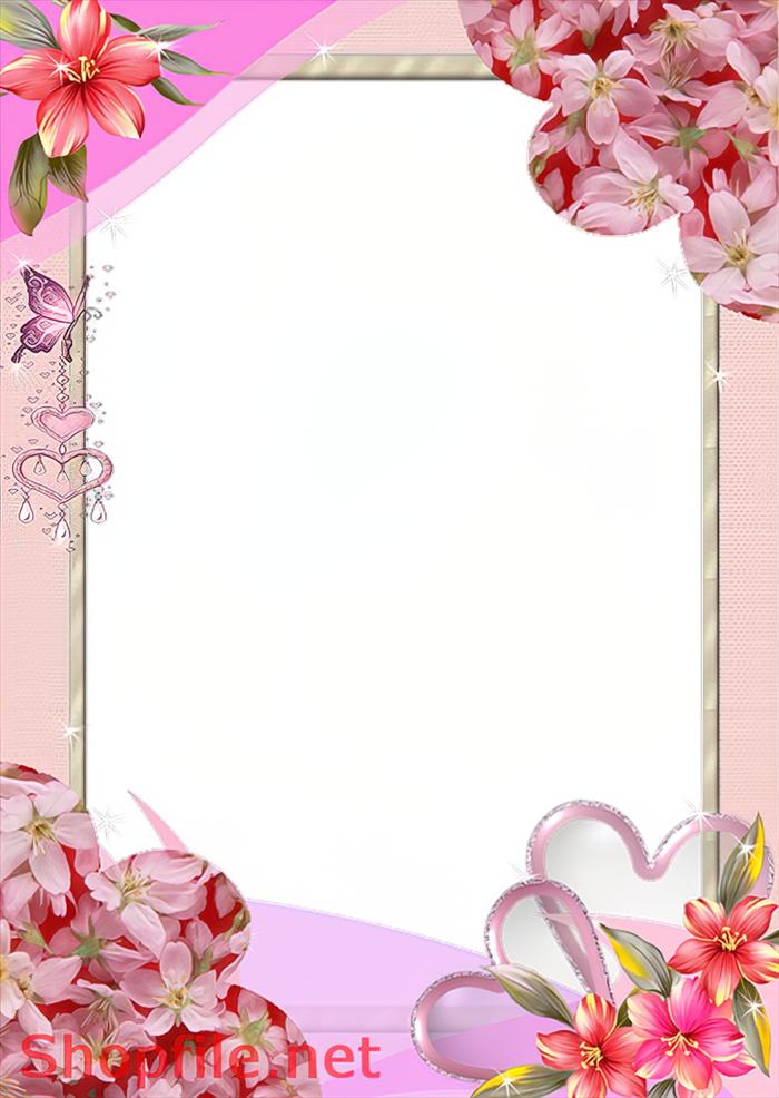 khung hình hoa đẹp độc đáo