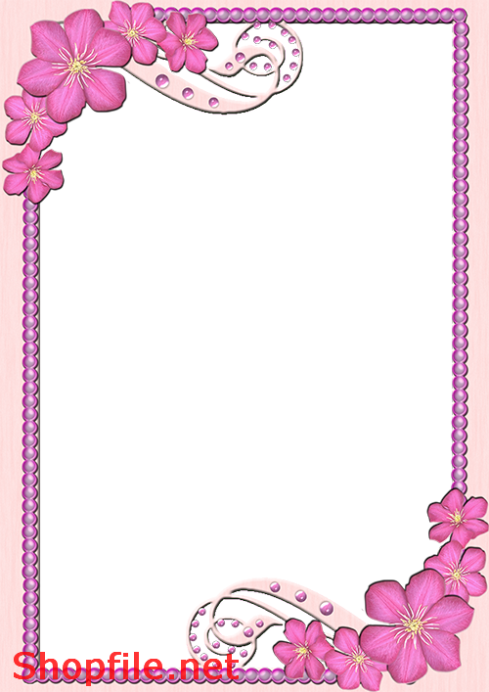 khung hình hoa tím đẹp